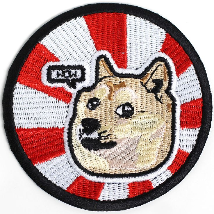 Best doge of the internet. Akita dog in embroidered iron on patch!