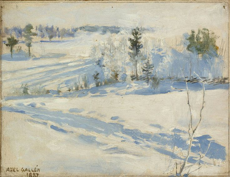 The Athenaeum - Winter Landscape (Akseli Gallen-Kallela - )height 19,50 cm width 25,00 cm холст,масло 1887