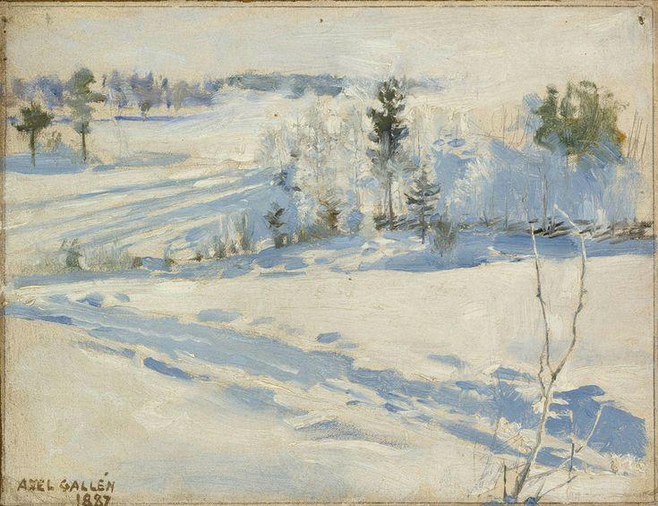 The Athenaeum - Winter Landscape (Akseli Gallen-Kallela - )