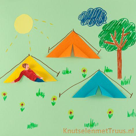 Tent van vouwblaadjes