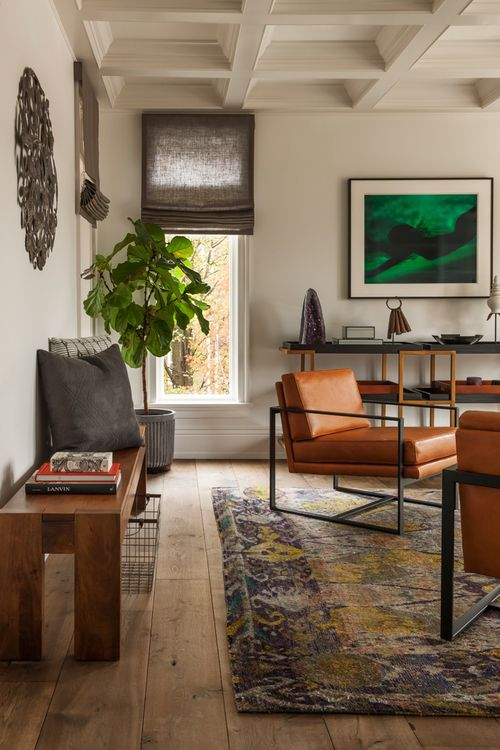leather armchairs with metal frame