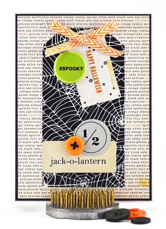 Halloween Card - Happy Halloween Card - Spooky Halloween - Halloween Handmade - Handmade Halloween Card - Halloween Party - October 31st