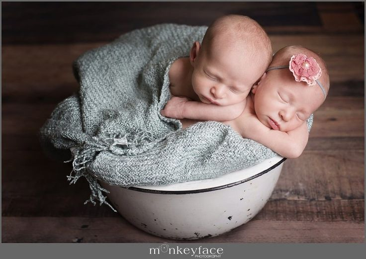 Boy girl twins in las vegas nevada newborn photography