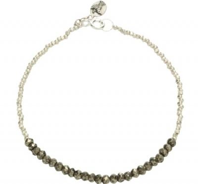 Alia Bracelet, pyrite, sterling silver