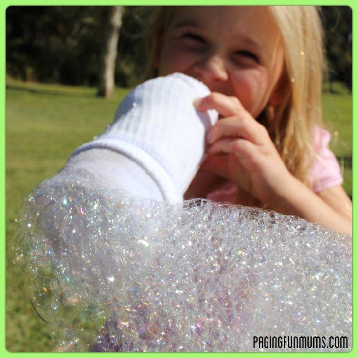 Sock Bubble Blower - so much FUN!