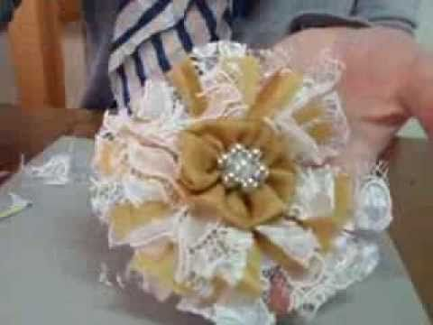 How to make Easy Shabby Chic Flowers - YouTube