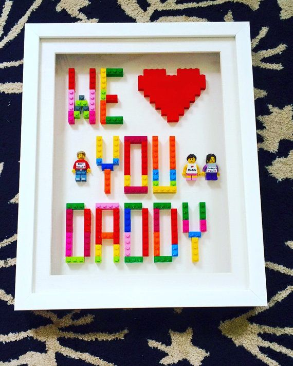 Personalised Lego Gift for Dad or Mum handmade by NotinmyhouseUK