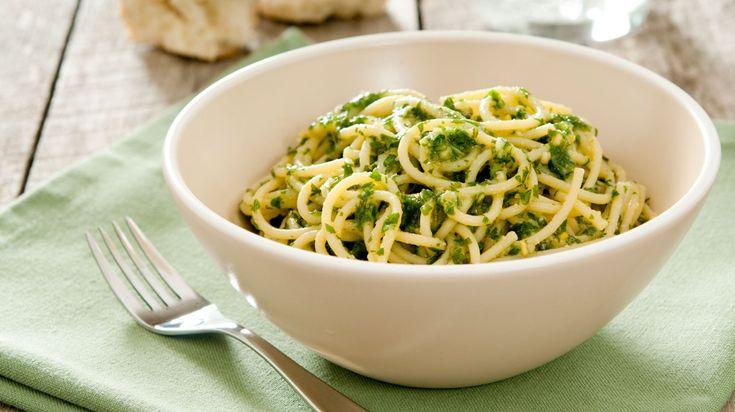 Spaghetti met boerenkoolpesto