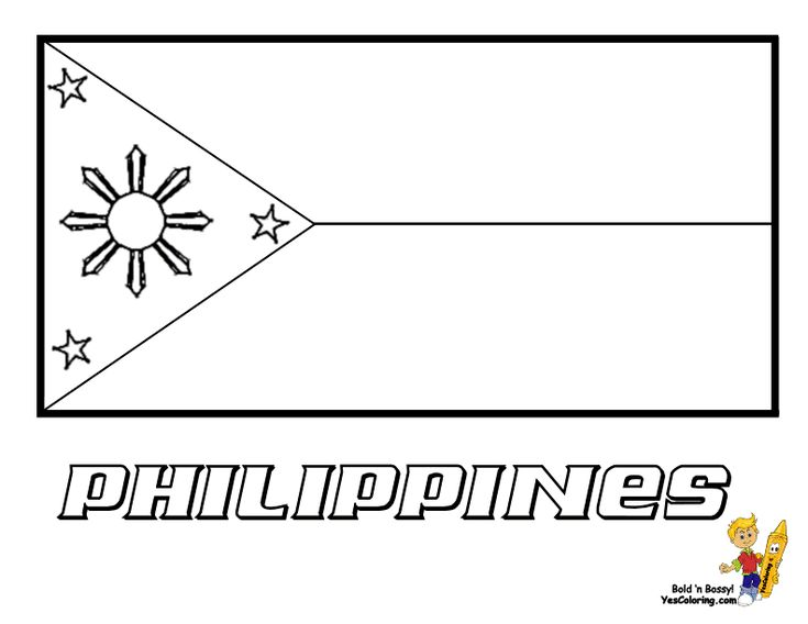 Coloring Page To Print Of Philippines Flag