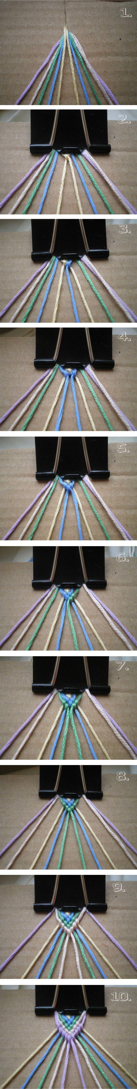 Mikro makramé karkötő készítése - Színes Ötletek