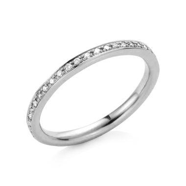 Diamantring - Ring med DiamantRing med Diamant (Vitguld 18 K) Lucia Juwel