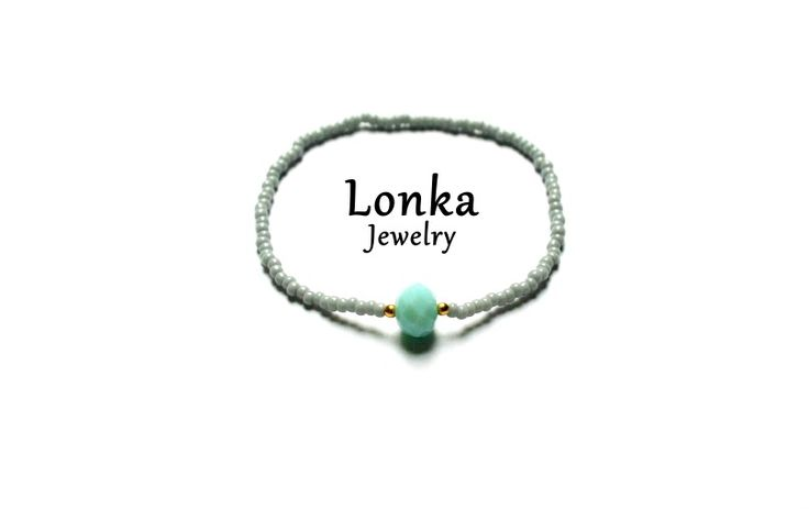 #handmade #bracelet #grey #mint #armparty #armcandy