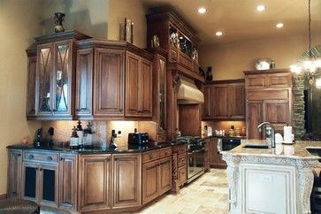 kitchen with cabinets on outside corner | Wrap Around Cabinets Design Ideas, Pictures, Remodel, and Decor