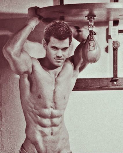 Taylor lautner abs right!