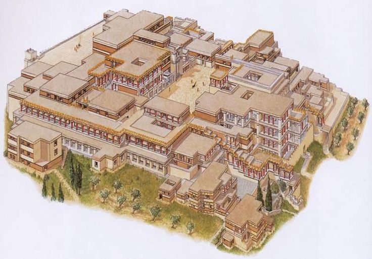 recreation of the Bronze Age palace of Knossos - Crete, Greece