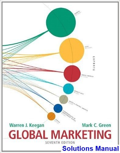 Solutions Manual For Global Marketing 7th Edition By Keegan