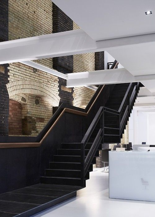 black black staircase