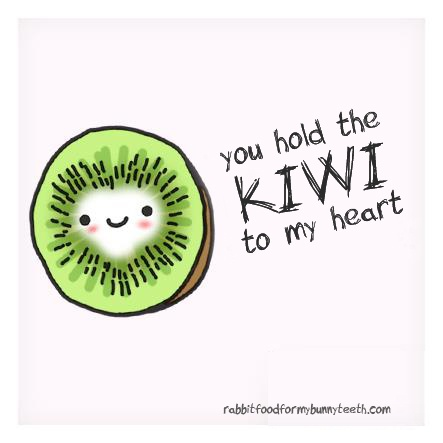 You hold the KIWI to my heart!