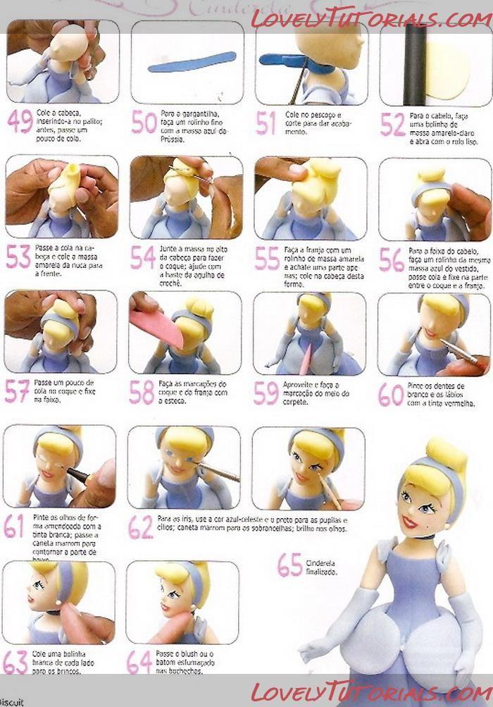 МК как слепить волосы/парик для куклы -How to Make a Doll Wig / Doll Hair - Page 6 - Мастер-классы по украшению тортов Cake Decorating Tutorials (How To's) Tortas Paso a Paso