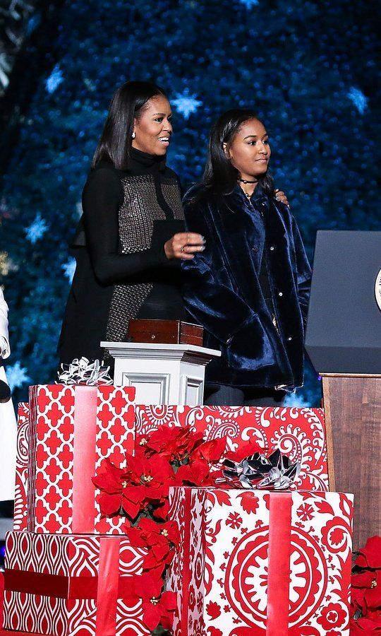 Michelle and Sasha Obama steal the show at the National Christmas Tree lighting and more celebrity photos of the week