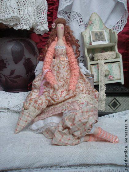 Беатрис - кремовый,бохо стиль,кукла,очарование,чудо,персиковый,хлопок