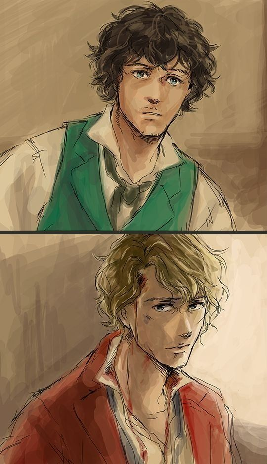Grantaire and Enjolras fanart. the scene right before they die i'm guessing