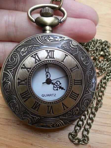 Zakhorloge/ horloge ketting brons romeins van Made-by-Kelly op http://nl.dawanda.com/shop/bracelets-armbanden