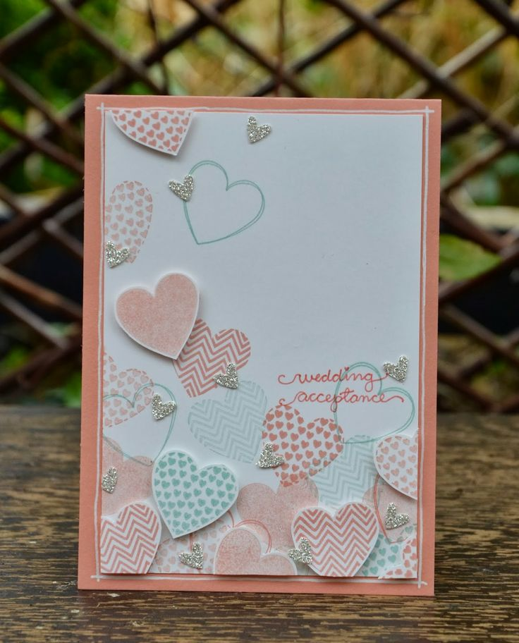 wedding acceptance - hearts a flutter, owl builder, handwriting, by Amanda Burditt