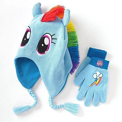 My Little Pony Rainbow Dash Beanie Hat and Gloves @ niftywarehouse.com