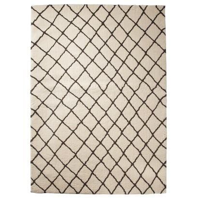 Threshold™ Criss Cross Fleece Rug - Cream.  Highly rated reviews - does not shed, very plush/soft, easy to vacuum, soft line pattern, stylish design. $89.99 for 4x6. $129.99 for 5x7. $249.99 for 7x10.