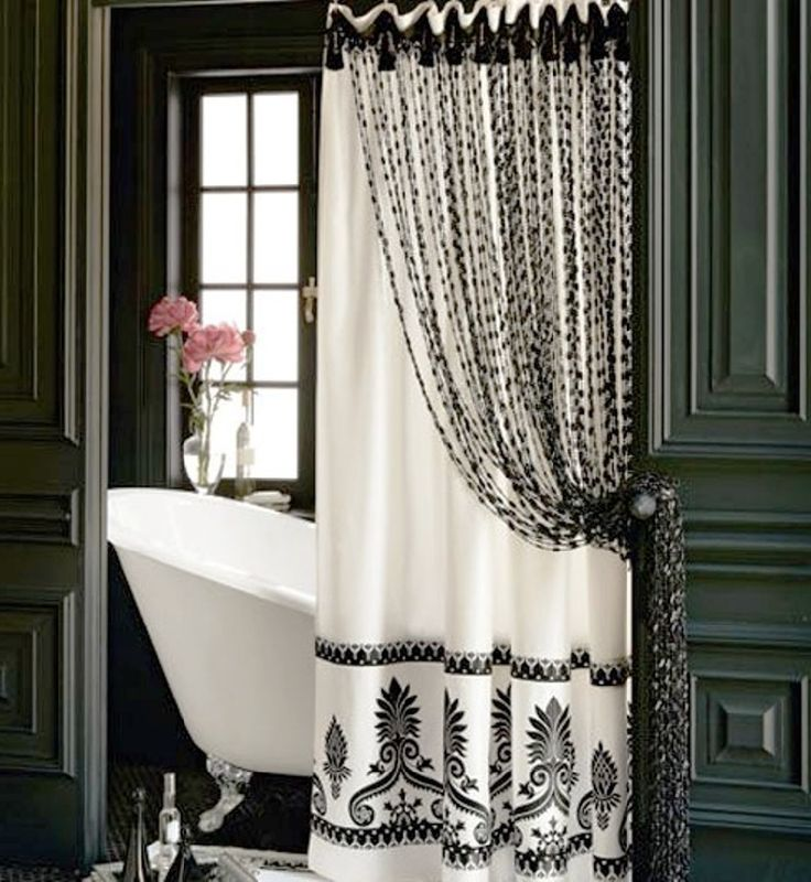 Bedroom Curtains Images Bedroom With Blue Accent Wall Modern Master Bedroom Curtains Black And White Paris Bedroom Decor: 25+ Best Ideas About Elegant Shower Curtains On Pinterest