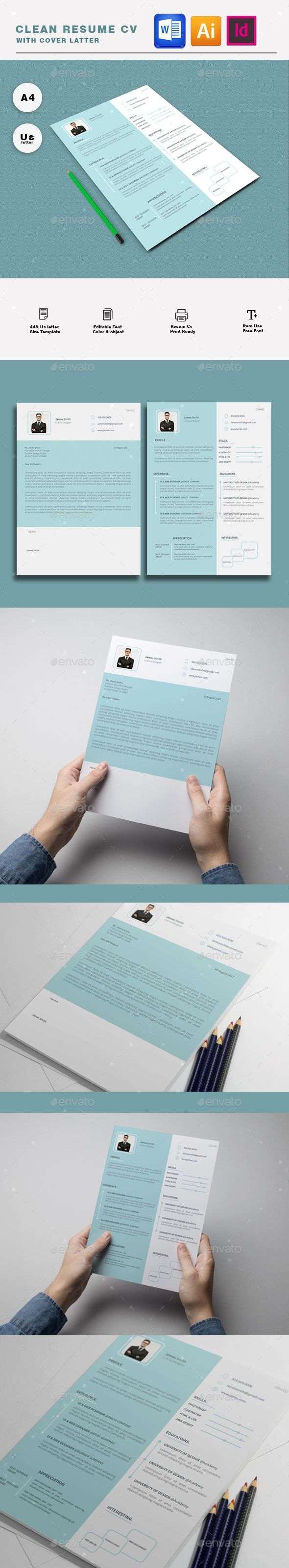 Resume #print ready #modern  • Download here → https://graphicriver.net/item/resume/20847380?ref=pxcr