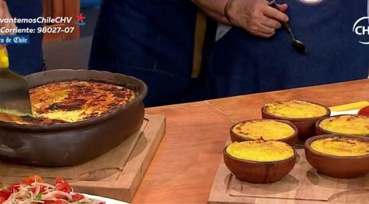 Pizza vegetariana con la pastelera de choclo