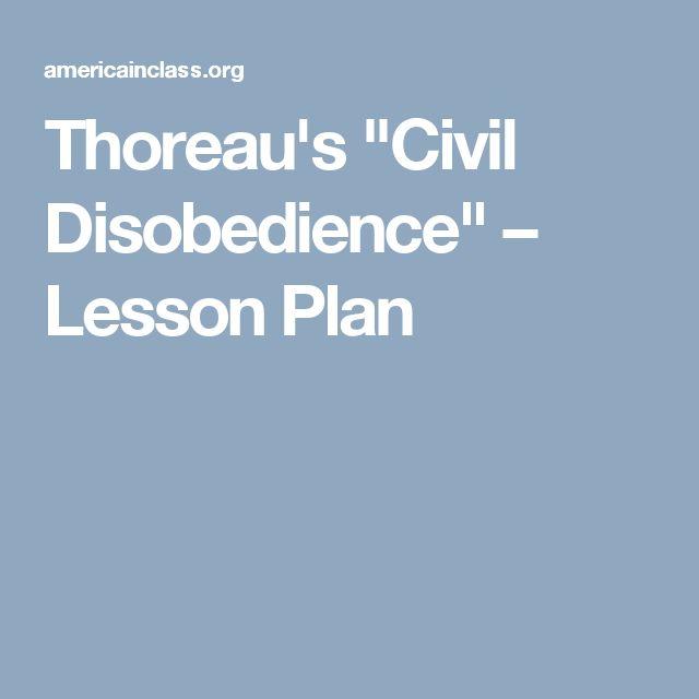 "Thoreau's ""Civil Disobedience"" – Lesson Plan"