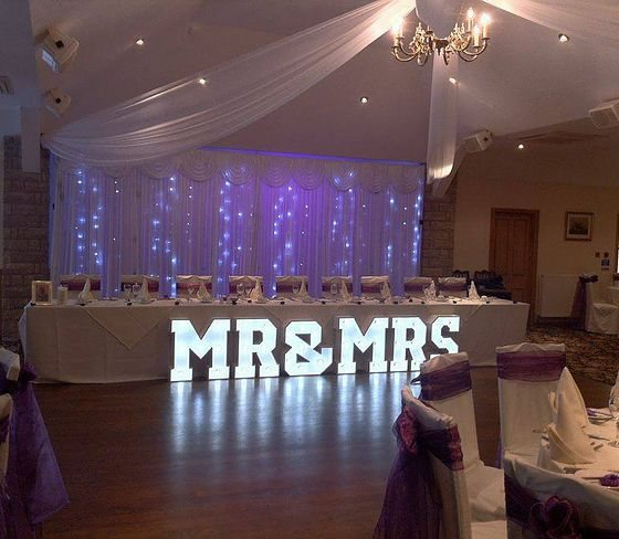 14 best wedding venue dressing by northwest letter lights images on wedding decorationsletter lights hirechair cover hirefull wedding and event decorationswedding and event stylists preston covering northwest england junglespirit Choice Image