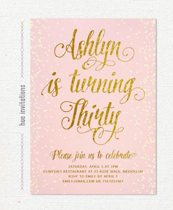 17 best ideas about 30th Birthday Invitations – Thirtieth Birthday Invitations