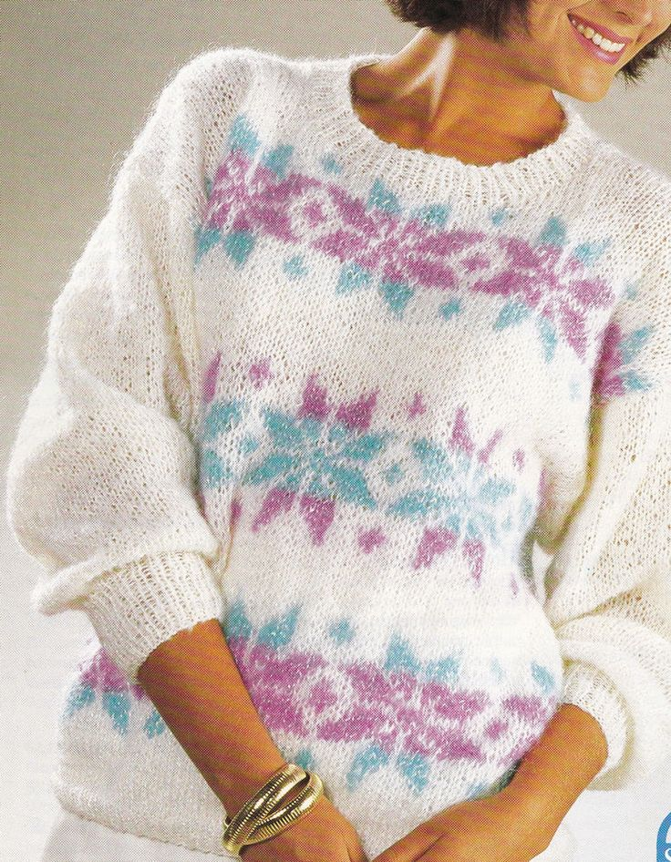 Snowflake Jumper Knitting Pattern : 17 Best images about Knitting Patterns Fair Isle Intarsia & Multi Coloure...