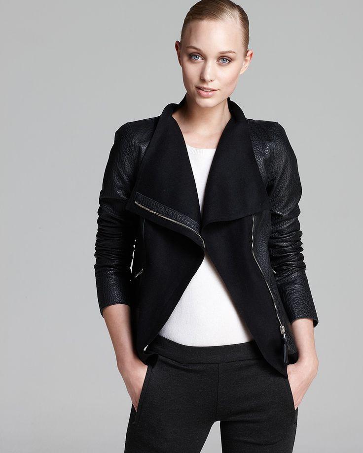 Mackage Jacket - Armada Leather Wool Collar | Bloomingdale's