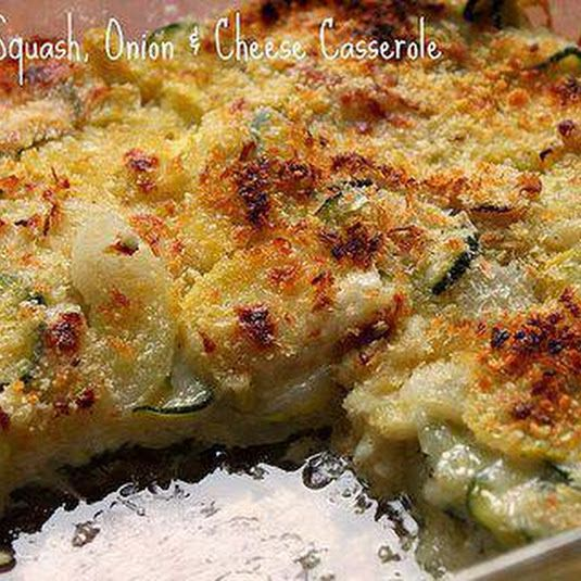 Zucchini, Squash, Onion and Cheese Casserole