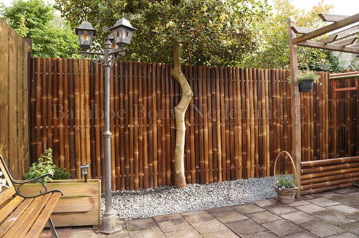 Is het niet prachtig? Door de zwarte Giant bamboeschermen kunt u in deze tuin pas echt genieten.