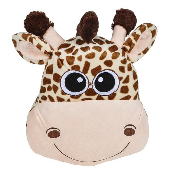 """This giraffe pillow would be a great addition to a jungle animal themed bedroom or nursery, or a cute gift for an animal-lover. Pillow measures 11""""."""