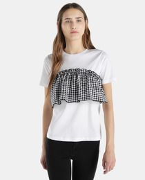 Camiseta de mujer Vila con top de cuadros - El Corte Inglés