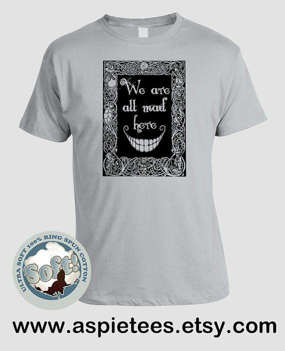 Alice in Wonderland Tshirt Lewis Carroll Mad Hatter by AspieTees, $20.00