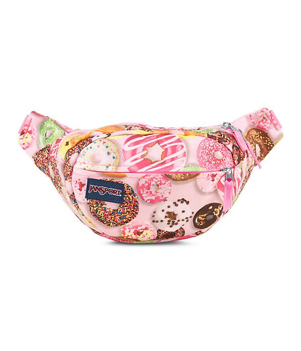 This donut print fabric makes a fanny pack look a bit less embarrassing, don't ya think?