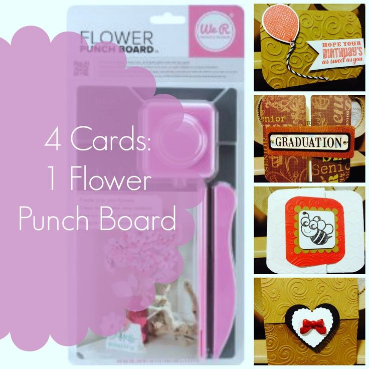 Check out this tutorial for inspiration using the Flower Punch Board #wermemorykeepers #punchboards #flowers
