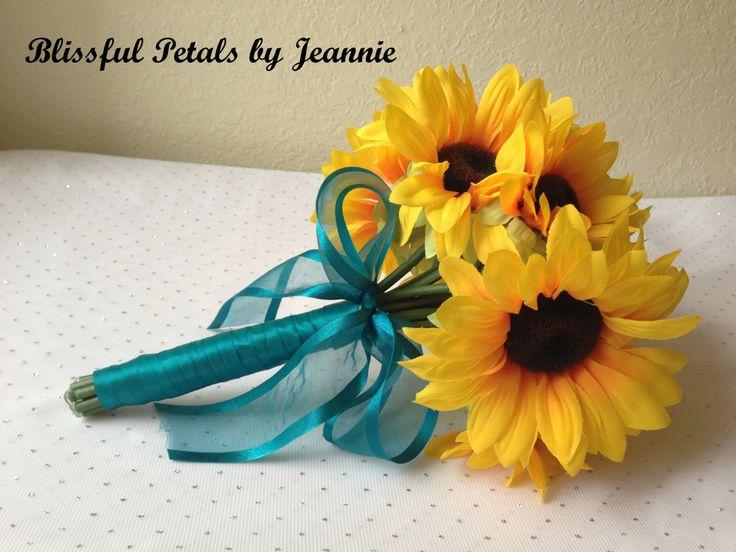 sun flower wedding bouquets | Sunflower Wedding Bouquet, Sunflower Wedding, Sunflowers, Yellow and ...
