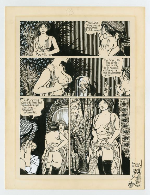 Tardi: La véritable histoire du soldat inconnu - 1974, planche originale