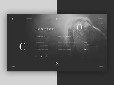 Namibia Park About Us Page by Anton Skvortsov #Design Popular #Dribbble #shots