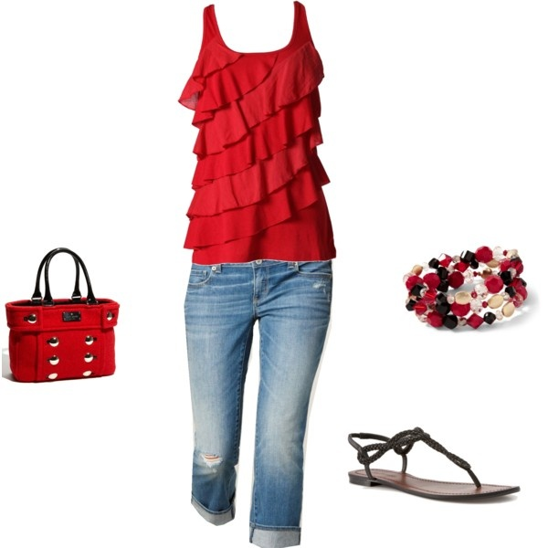 Red: Green Top, Clothes Accessories, Cute Outfits, Cute Summer Outfits, Red Hot