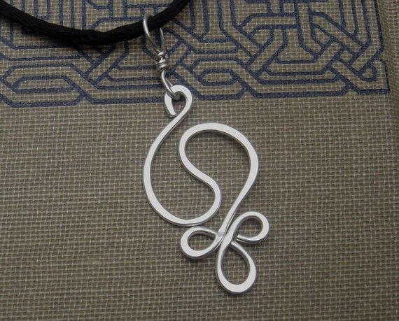 Yin Yang armonia argento ciondolo collana, filo martellato argento collana…